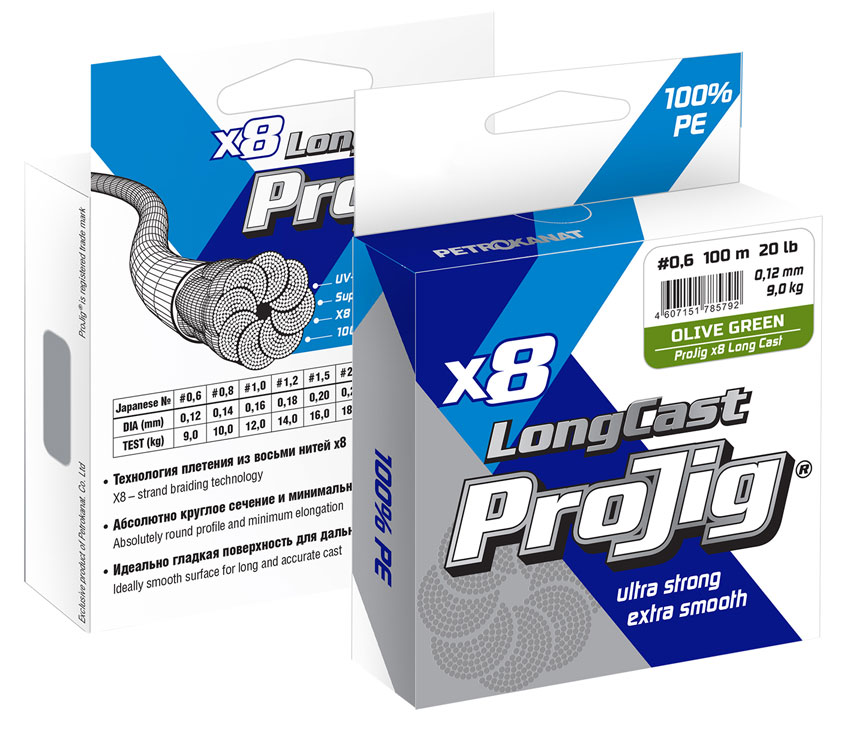 Шнуры ProJig_X8-Long-Cast