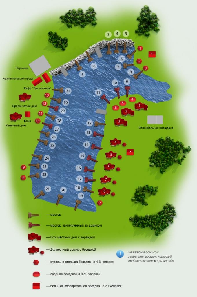 Схема пруда предоставлена