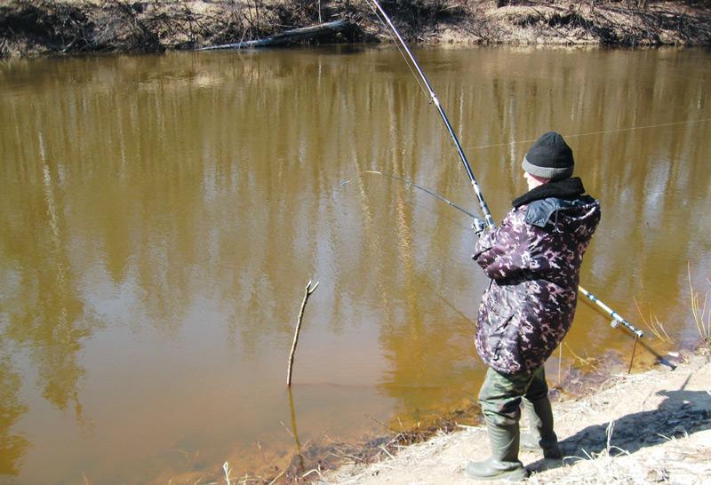 ловля фидером ранней весной на пруду